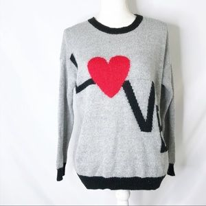 Forever 21 LOVE grey Crewneck sweater